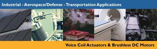 Brushless DC Motors, Voice Coil Actuators