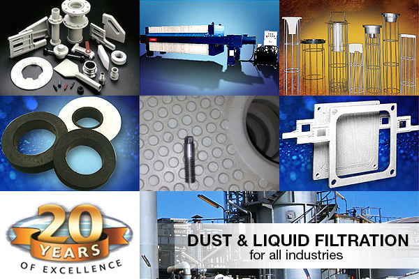 Dust Filtration, Liquid Filtration, Filter Media, Filter Press, Filter Media Bag, Filter Housings, Filter Cage, Filter Bags, Dust Bags, Bag Filters, Dust Filter Bags, PTFE Membrane Filters, Dalamatic, Filter Press Cloths, Press Cloths, Filter Plates