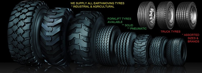Truck Tyres, Tractor Tyres, Forklift Tyres, Earthmoving Tyres