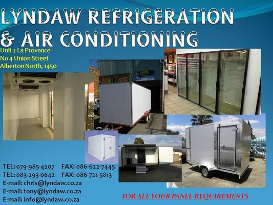 Insulated Trailers Food Vendors, Refrigeration, Cold Rooms, Freezer Rooms, Blast Freezers, Insulated Hinged, Sliding Doors, Process Facilities, Chicken Houses