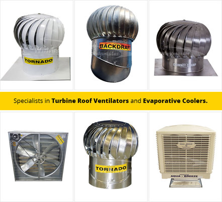 Roof Ventilation System, Roof Ventilation, Industrial Ventilation, Industrial Ventilation Systems, Axial Fans, Evaporative Cooler, Chimney Ventilation