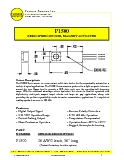 Magnetic Speed Sensor - P1500 Datasheet