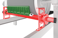 As a Head Pulley Scraper, mounted directly on the head pulley. Can be used as the only scraper when space is restricted. Suitable for all types of conveyor belts and metal fastener systems