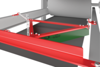 The Brelko V-Plough is designed to be easily installed in a trailing configuration on the inner surface of a conveyor belt return strand just before any nip position to remove and thus prevent any material which has spilled onto the inner surface.