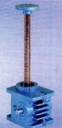 """Worm gear screw jacks of the standard range abbreviated """"SJ"""" are characterized by a simple, sturdy design and have proved most successful for more than 20 years."""