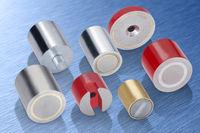 High quality permanent magnets in sintered hard ferrite, Aluminium nickel cobalt (AINiCo), Samarium cobalt (SmCo) and Neodymium iron boron (NdFeB).