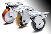 A new line of industrial castors and wheels for manually moving machines, equipment and trolleys.