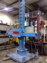 A Column and Boom Welder is used to accurately position a welder head, for tig, mig or subarc welding.