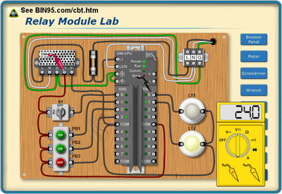 One of many PLC circuits you will work with.