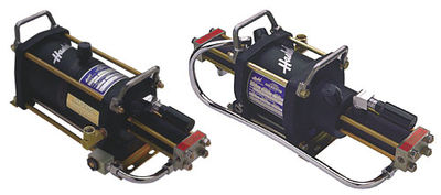 haskel air hydraulic driven gas booster with hydrocarbon free separation system
