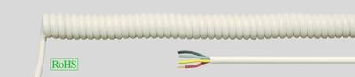 PVC Spiral Cables Black & White PVC Spiral Cables