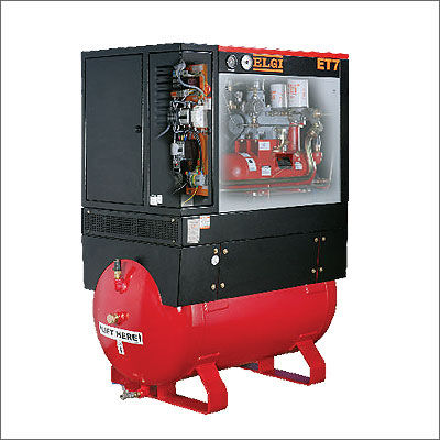 ELGI Horizon Series Tank Mounted Electric Screw Air Compressor 5.5 - 11 kW, Electric Screw Compressor, Screw Compressors, Mounted Compressor