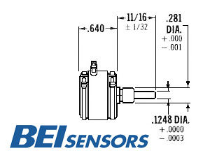 BEI Rotary Potentiometers