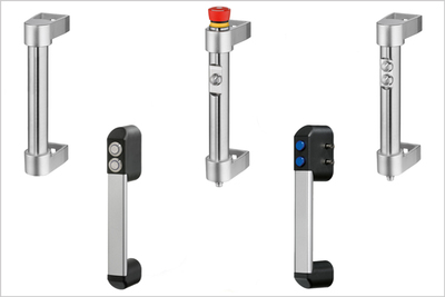 New Elesa IP65 interlock handles with electronic and pneumatic pushbuttons