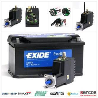 New Integrated 400Watt Servo Motor with 12-48VDC Battery Supply Voltage