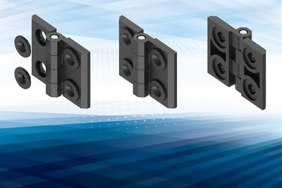 New EMKA true 180° hinge fits industry standard rivet nuts