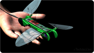 Flying Robot Dragonfly, Hover and Fly