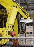 Robot's return for palletising at Panasonic Wales