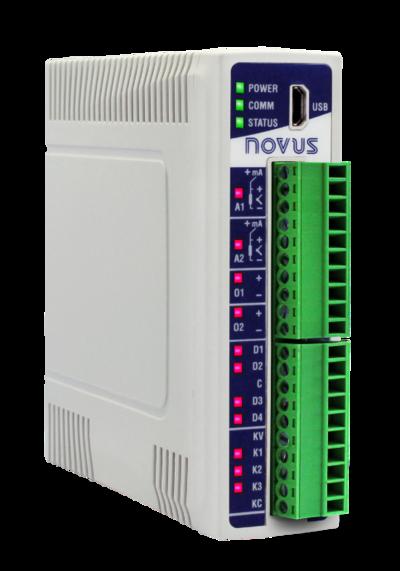 New NOVUS I/O Module Leads Industry 4.0 to DIN Rail