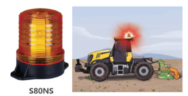 New - S80NS Heavy-Duty LED Strobe Warning Lights for Vibration & Impact