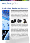 Introduction to Radiation Resistant Lenses